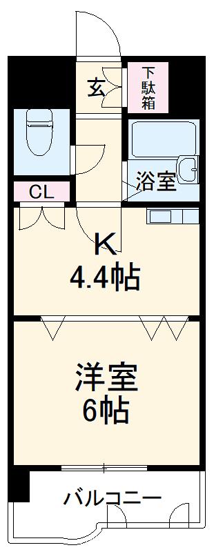 ライオンズマンション博多中央 905号室の間取り