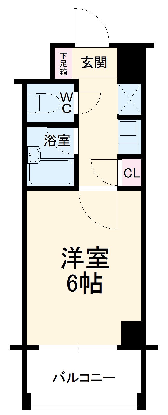 ダイナコート箱崎Ⅱ 602号室の間取り