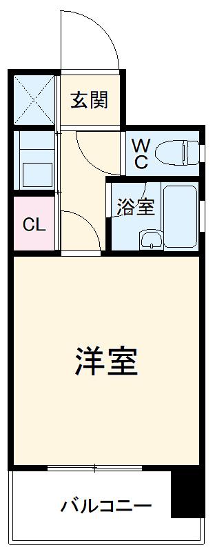 ピュアドームフローリオ博多 501号室の間取り