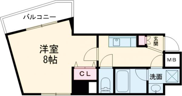 Chateau Nagakura壱番館 501号室の間取り