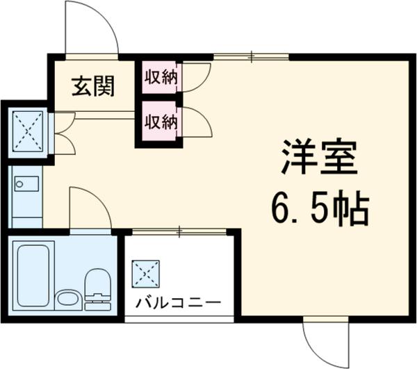 アベニューⅡ 504号室の間取り