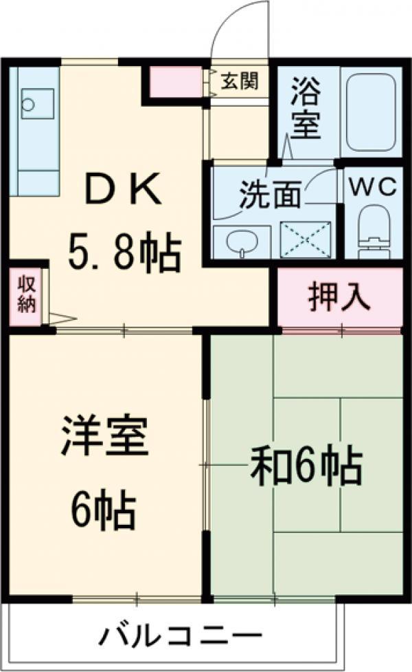 コーポ増田A棟 101号室の間取り