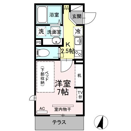 仮)D-room生田 103号室の間取り