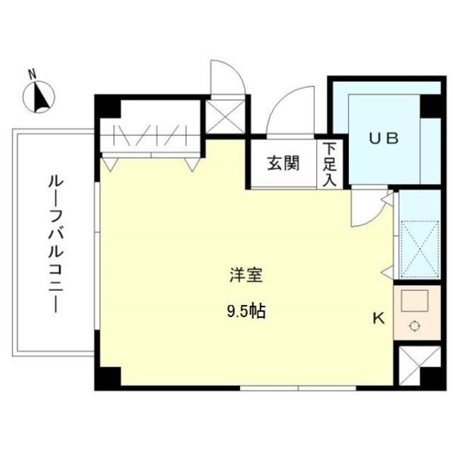 ハイツナカヤ大岡山 502号室の間取り