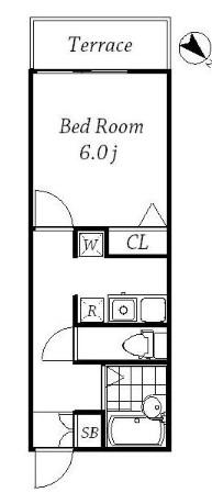 ホワイトフィールド西小山 102号室の間取り