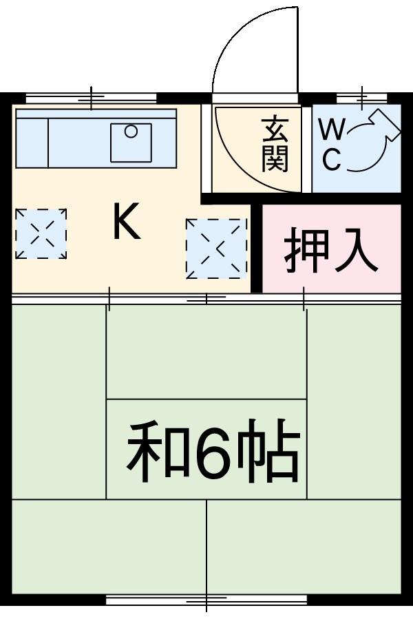 津田アパート 7号室の間取り