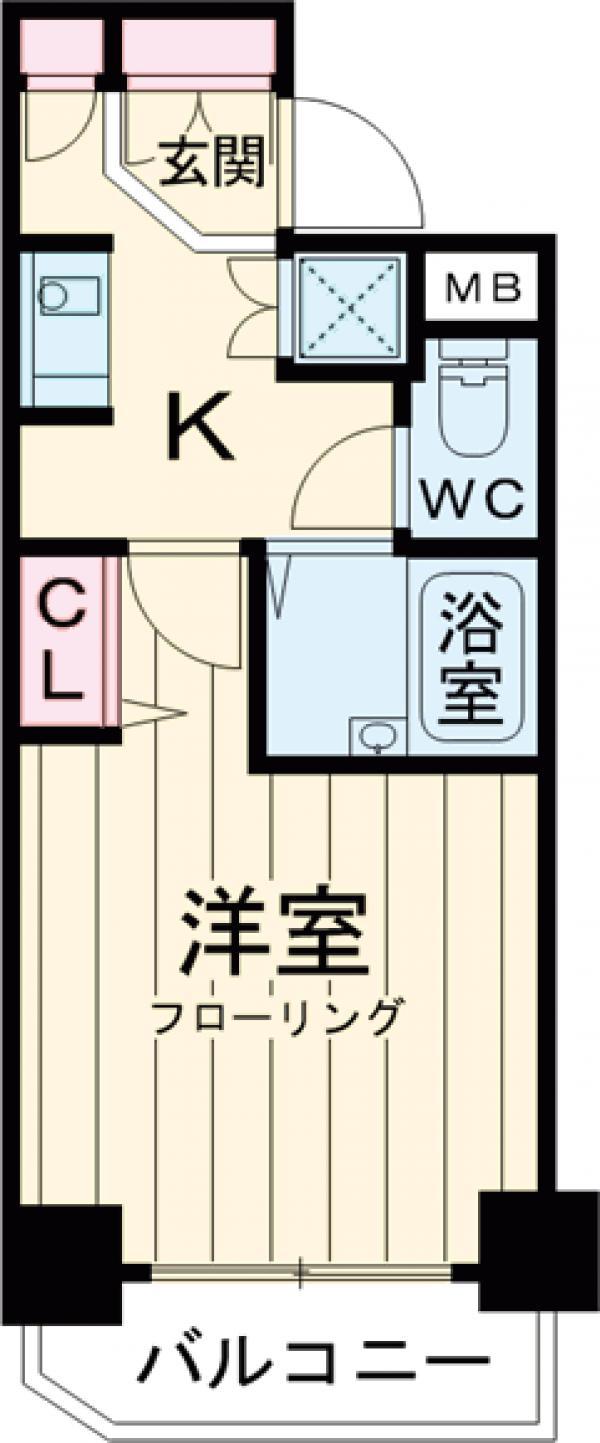 ロアール目黒本町 402号室の間取り