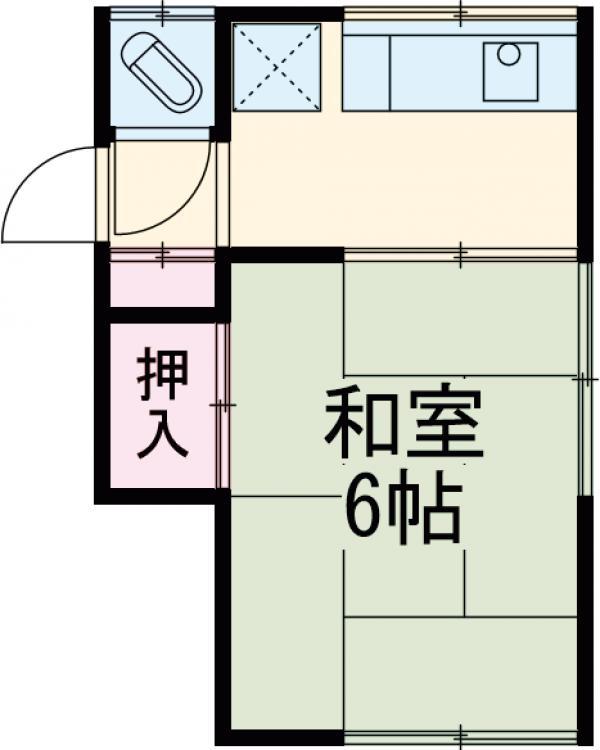 田村荘 1号室の間取り