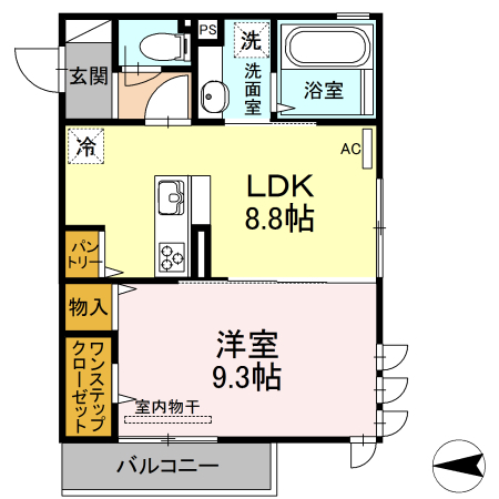 仮)D-room上丸子天神町Ⅱ 101号室の間取り