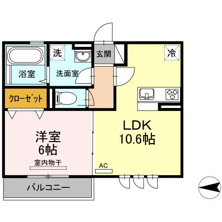 仮)D-room上丸子天神町Ⅱ 203号室の間取り