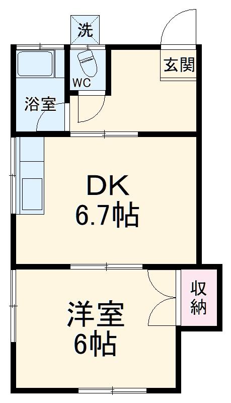 常盤ハウス 2-2号室の間取り