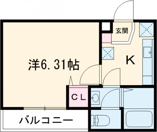 3F HAUS 102号室の間取り