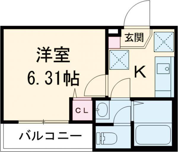 3F HAUS 302号室の間取り