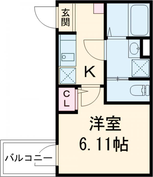 3F HAUS 303号室の間取り