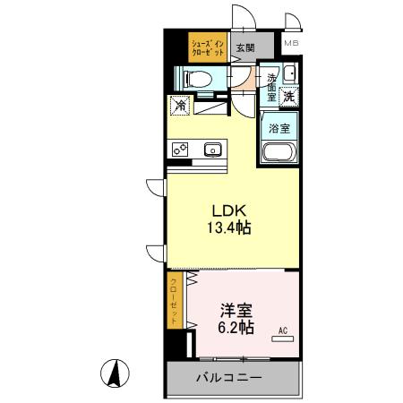 (仮)浦和常盤7丁目D-room 401号室の間取り