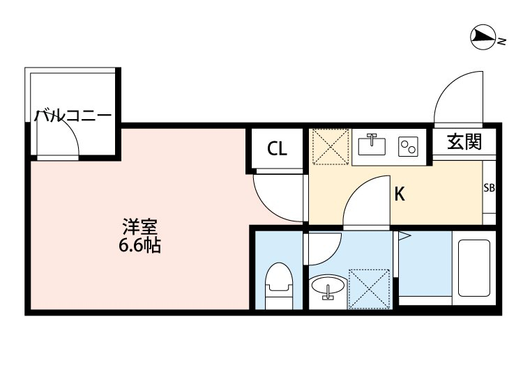 IL SOLE 305号室の間取り