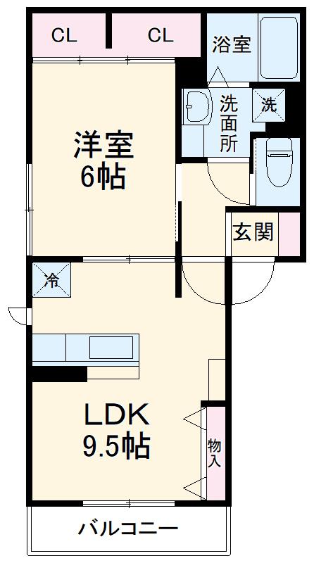 (仮)浦和上木崎4丁目D-room 302号室の間取り