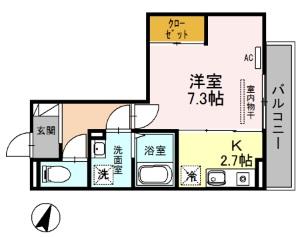 (仮)D-room上落合5丁目 302号室の間取り