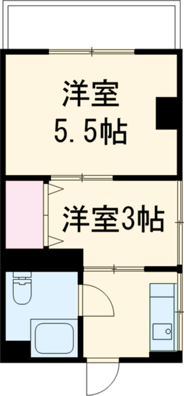 小林マンション 201号室の間取り