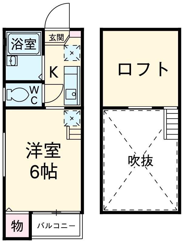 サンシティ箱崎 201号室の間取り