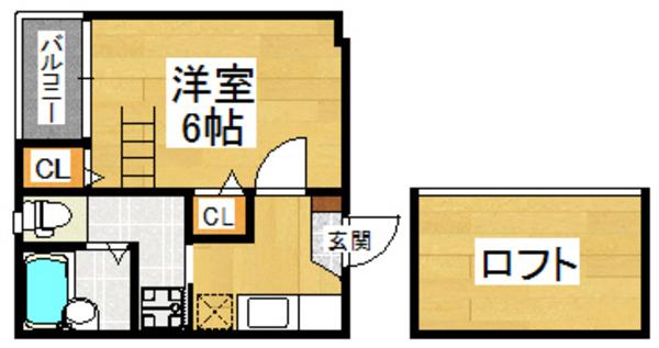 ベネフィスタウン箱崎東6 202号室の間取り