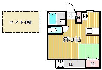 シティベール松崎 207号室の間取り