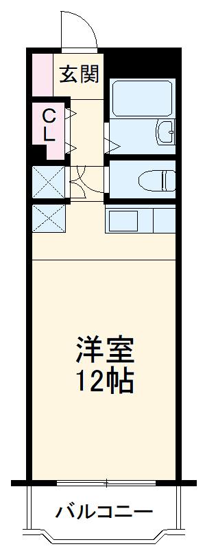 パールハイツ吉塚 301号室の間取り
