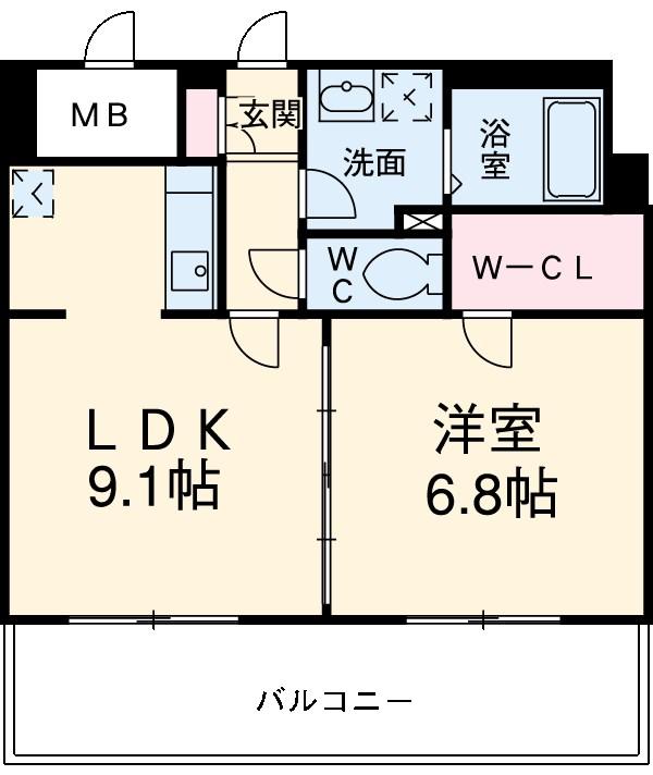 ロイヤルステージ吉塚 806号室の間取り