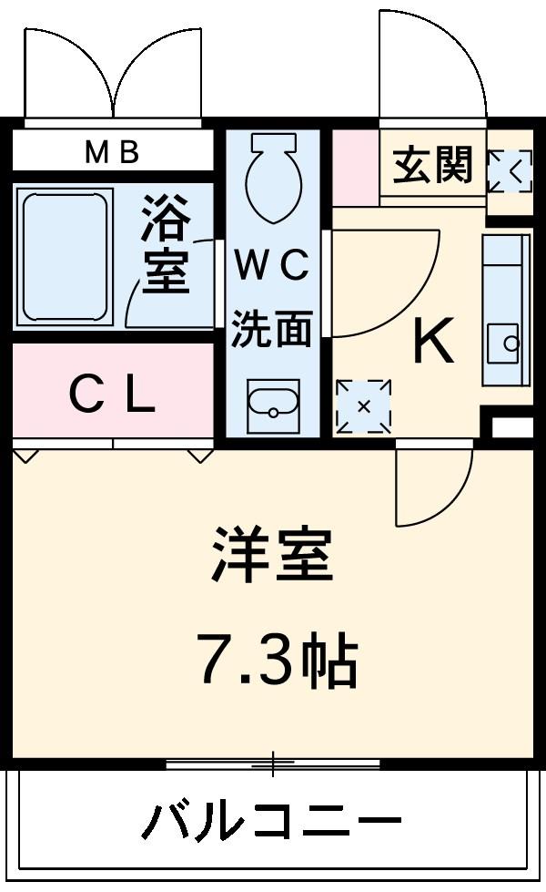 第16川崎ビル 202号室の間取り