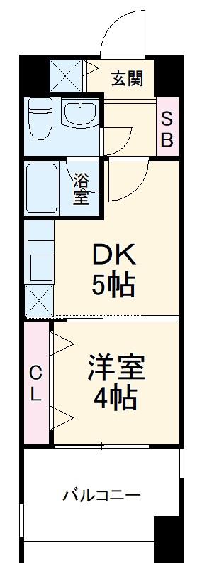 レジデンス箱崎 704号室の間取り