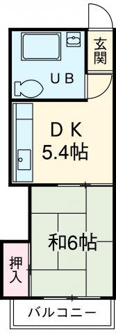 農協コーポⅡ 303号室の間取り