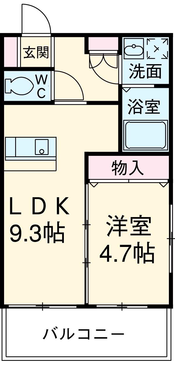 第34川崎ビル 405号室の間取り