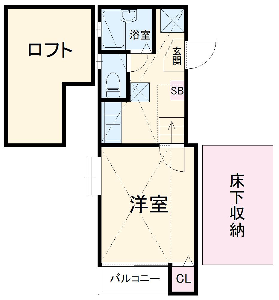 コンフォートベネフィス箱崎2 103号室の間取り