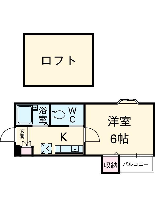 ピュア箱崎六番館 201号室の間取り