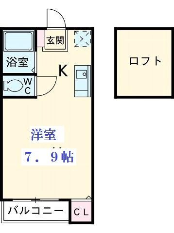 サンリバー箱崎駅南 101号室の間取り