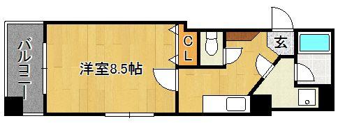 宝州博多第一ビル 805号室の間取り