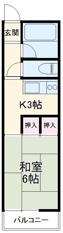 馳川アパート 01号室の間取り