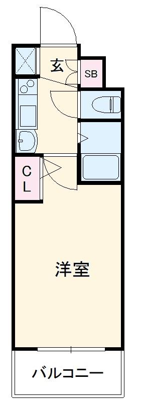 エステムコート博多祇園ツインタワーファーストステージ 505号室の間取り