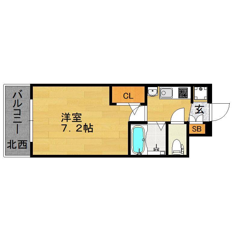 エステムコート博多祇園ツインタワーファーストステージ 1102号室の間取り