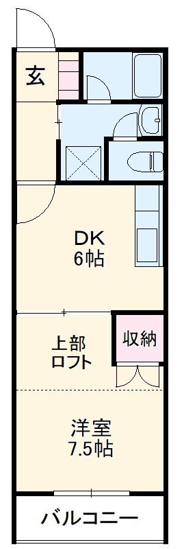 恵比須荘 103号室の間取り