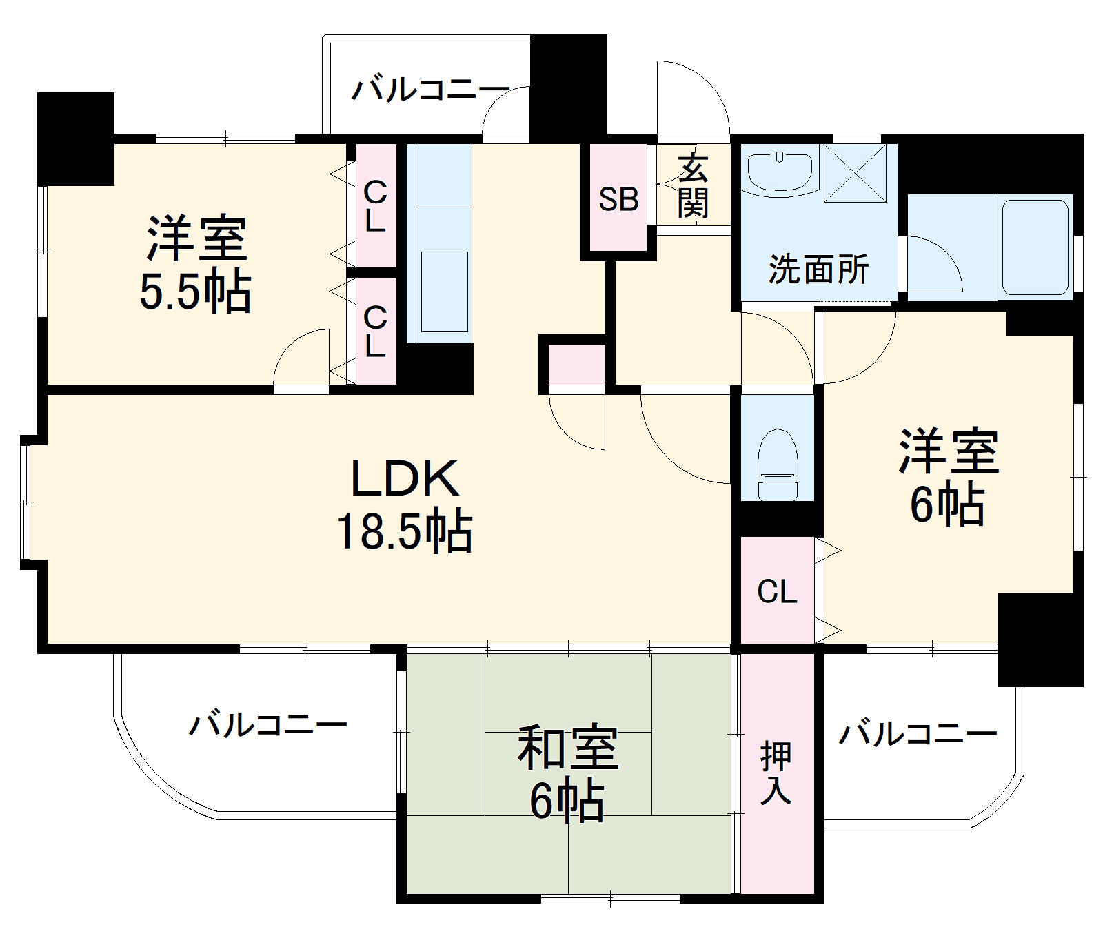 ロマネスク箱崎第3 1201号室の間取り
