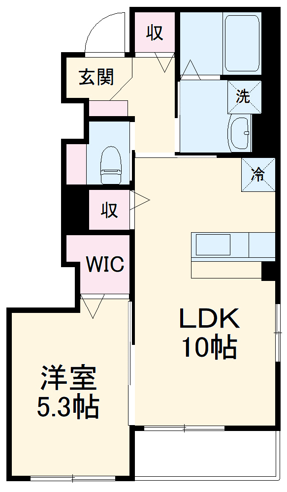 仮)須惠町須惠アパート 101号室の間取り