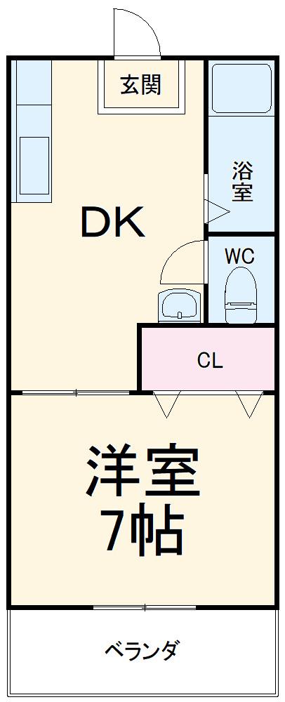 川嶋コーポ 301号室の間取り