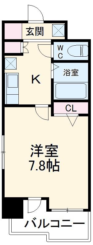 コンフォートスペース箱崎 202号室の間取り