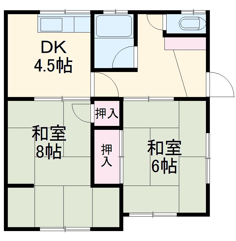 深見アパート 2号室の間取り