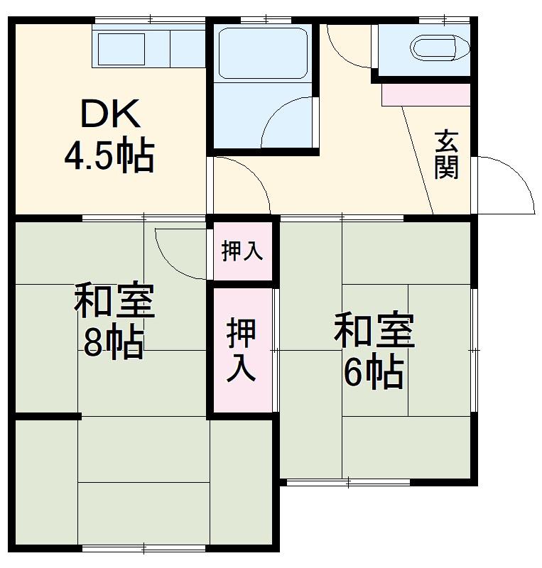 深見アパート 5号室の間取り