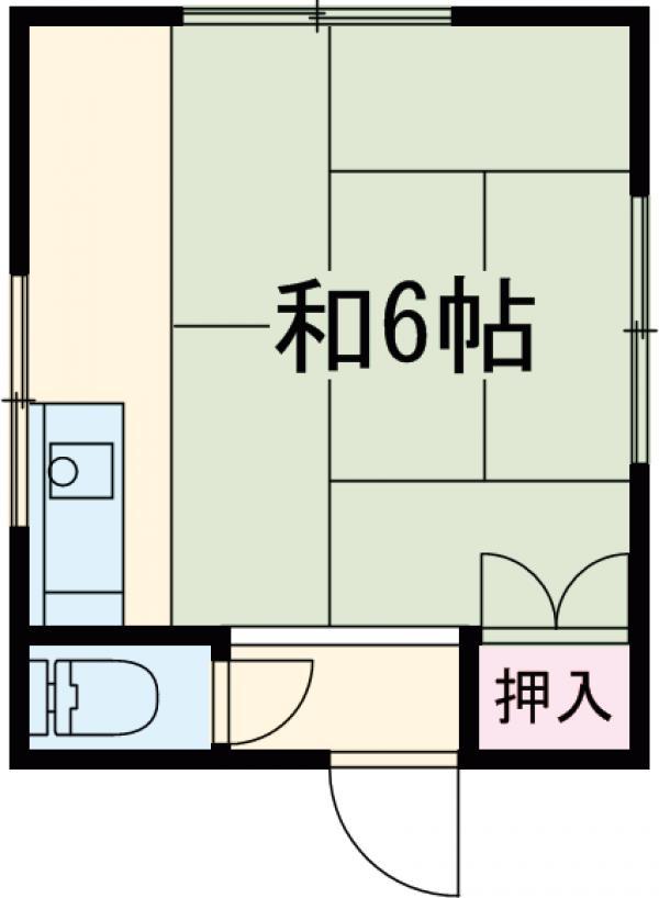 田中荘 203号室の間取り