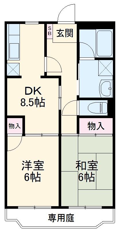 ペアシティ久喜弐番館 303号室の間取り