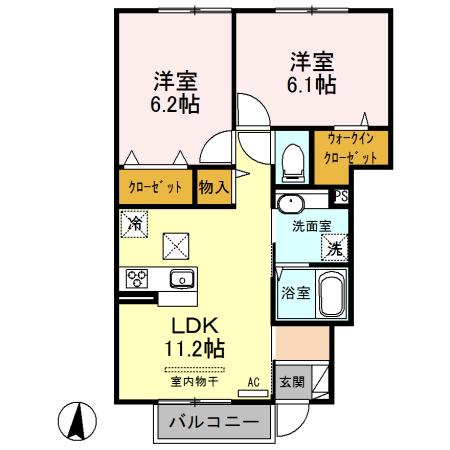 (仮)西新宿6丁目D-ROOM新築工事 101号室の間取り