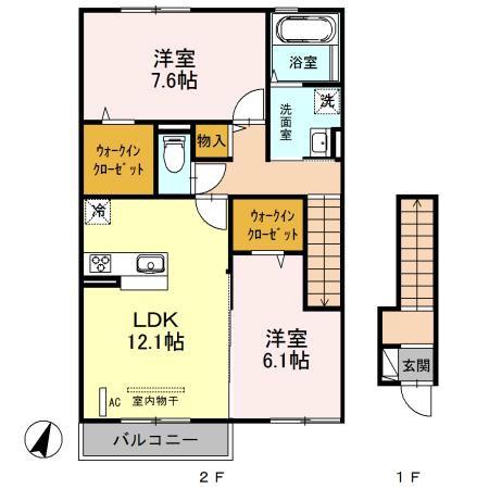 (仮)桜区新開Dーroom 202号室の間取り
